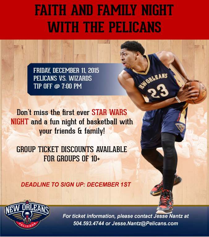 Pelicans Faith and Family Night