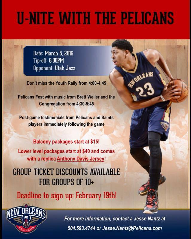 unite with the pelicans 2016_promo flyer