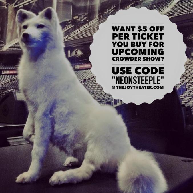 crowder artic fox discount_april 12_joy theater