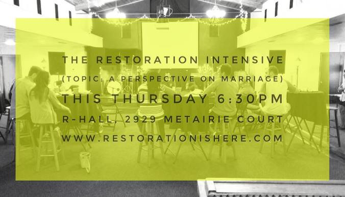 The Restoration Intensive_July 2016_Promo Image