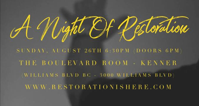 RC_A Night Of Restoration_August 2018 Promo